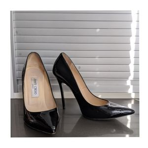 JIMMY CHOO Anouk black patent heels 36.5 / 6.5